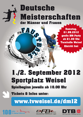 Deutsche Meisterschaft 2012 Faustball in Weisel