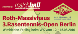 Roth-Massivhaus 3. Rasentennis Open in Berlin