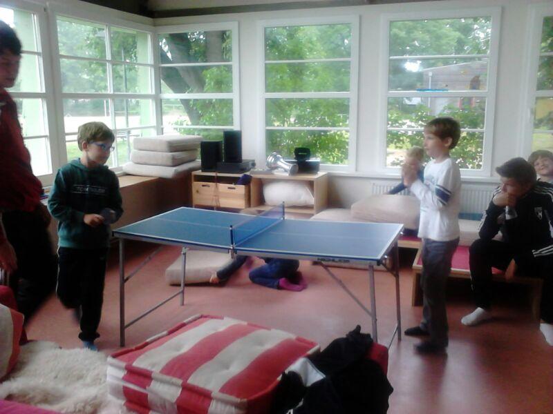 Tischtennis in der Sonnehalle
